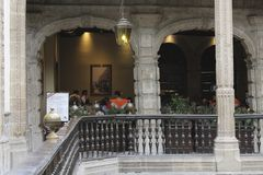 Casa DE los azulejos, ingang aan het restaurant, CDMX stock fotografie