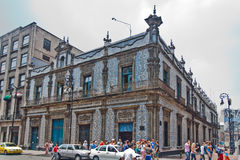 Casa de Los Azulejos Mexico City Stock Photo