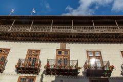Casa de los Balcones. House with balconies. Casa de los Balcones Royalty Free Stock Photos