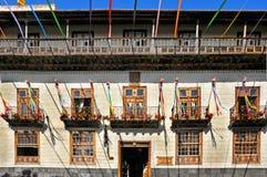 Casa de Los Balcones im La Orotava, Kanarische Inseln Lizenzfreie Stockfotos