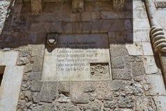 Casa de los Condestables房子在布尔戈斯 库存图片