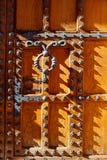 Casa de los Condestables dörrhus i Burgos Royaltyfria Bilder