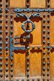 Casa de los Condestables door house in Burgos Royalty Free Stock Photo