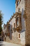 Casa de los Condestables hus i Burgos Arkivbild