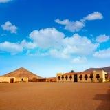 Casa de los Coroneles Fuerteventura La Oliva Royaltyfria Bilder