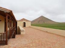 Casa de los Coroneles i La Oliva på Fuerteventura Royaltyfri Fotografi