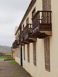 Casa de los Coroneles in La Oliva on Fuerteventura Royalty Free Stock Photography