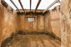 Casa de Los Coroneles Ruins in La Oliva, Spanien Lizenzfreie Stockbilder