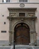 Casa de los dos osos de oro, vieja área Praga, República Checa de la ciudad imagenes de archivo