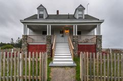 Casa de los encargados del punto de Pemaquid imagenes de archivo
