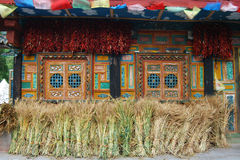 Casa de los famer tibetanos Foto de archivo libre de regalías
