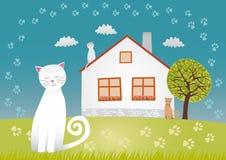 Casa de los gatos Imágenes de archivo libres de regalías
