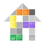Casa de los gráficos de la información Imagen de archivo