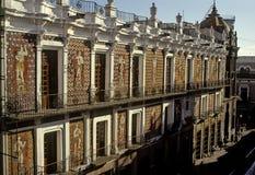 Casa de los muñecos. Facade of the casa de los muñecos, this an emblematic building in Puebla royalty free stock photos