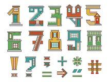 Casa de los números Imagen de archivo