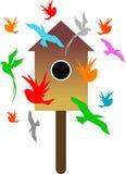 Casa de los pájaros Imágenes de archivo libres de regalías