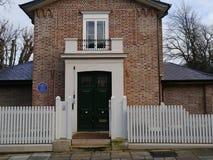 Casa de los torneros de JMW del frente en Twickenham Middlesex Imagen de archivo