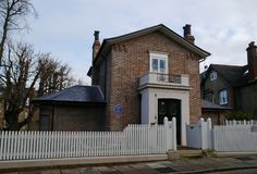 Casa de los torneros de JMW en Twickenham Middlesex Imagenes de archivo