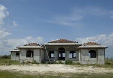 Casa de lujo bajo construcción Fotografía de archivo libre de regalías