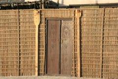 Casa de madeira árabe velha, Dubai fotografia de stock