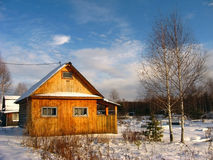 Casa de madeira Imagem de Stock Royalty Free