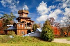 A casa de madeira Foto de Stock