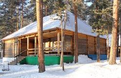 A casa de madeira Foto de Stock Royalty Free
