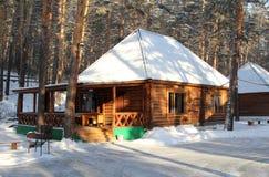 A casa de madeira Fotos de Stock