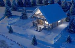 Casa de madeira ilustração do vetor