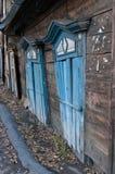 Casa de madeira antiga imagem de stock royalty free