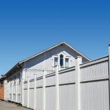 Casa de madeira branca Foto de Stock Royalty Free