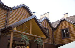 Casa de madeira canadense fotos de stock