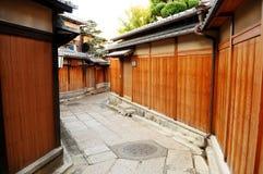 Casa de madeira da cultura de Japanse fotografia de stock