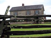 Casa de madeira da era velha da guerra civil Foto de Stock Royalty Free