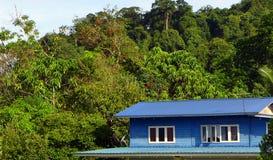 Casa de madeira da vila do estilo malaio Imagem de Stock