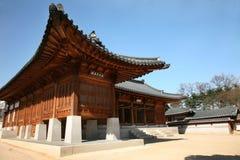 Casa de madeira de Coreia fotografia de stock