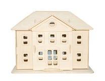 Casa de madeira do brinquedo Fotografia de Stock Royalty Free