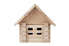 Casa de madeira do brinquedo Fotografia de Stock