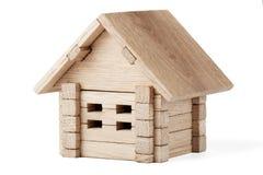 Casa de madeira do brinquedo Fotos de Stock