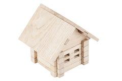 Casa de madeira do brinquedo Imagens de Stock Royalty Free