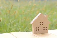 Casa de madeira do brinquedo Foto de Stock