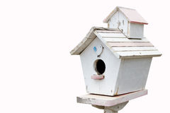 Casa de madeira do pássaro, postbox Fotografia de Stock Royalty Free