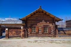 Casa de madeira do russo tradicional Foto de Stock