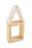 Casa de madeira do tijolo Foto de Stock Royalty Free