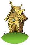 Casa de madeira dos desenhos animados Fotografia de Stock