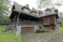 A casa de madeira histórica velha em Zakopane Foto de Stock Royalty Free