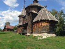 Casa de madeira na exploração agrícola Fotos de Stock Royalty Free