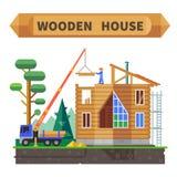 Casa de madeira na floresta Imagens de Stock Royalty Free