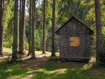 Casa de madeira pequena Fotos de Stock Royalty Free