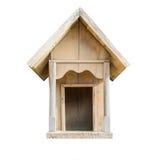 Casa de madeira pequena isolada no branco fotos de stock